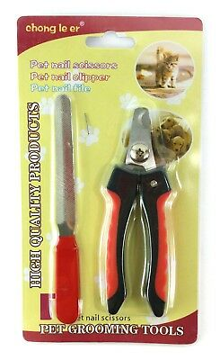 Pet Grooming Dog Cat Nail Toe Clippers Scissors and Nail File Toe Claw Trimmer
