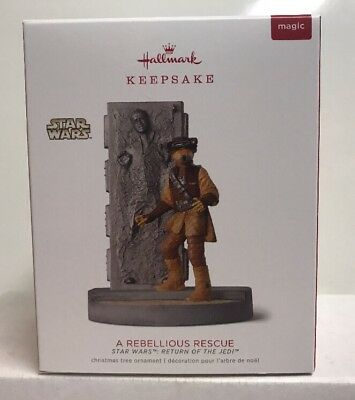 2018 Hallmark Keepsake Magic Light Sound Star Wars A Rebellious Rescue Ornament