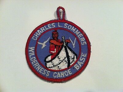 Boy Scout Vintage Charles L. Sommers Wilderness Canoe Base Cut Edge Twill Patch