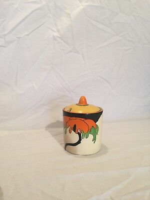 clarice cliff pottery preserve pot