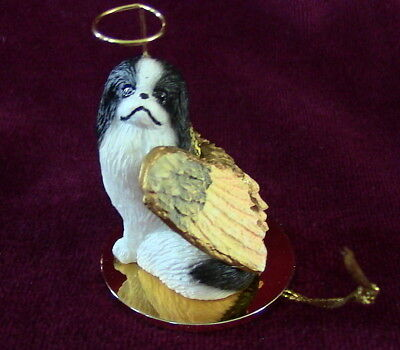 Japanese Chin (black/white) Angel for Red Leash Rescue ~ Excellent Deal!