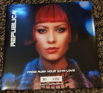 """REPUBLICA - From Rush Hour With Love ~7"""" Vinyl Single~ *Ltd Ed Numb'd RED Vinyl*"""