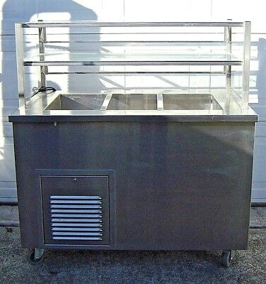 ColorPoint Electric Refrigerator Stainless Steel Salad Bar Cold Food Deli Buffet