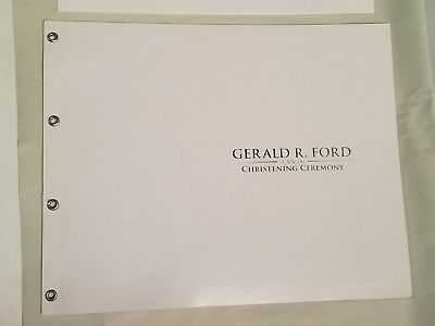 Gerald R. Ford Christening Ceremony Book with Brochures and Ticket CVN78