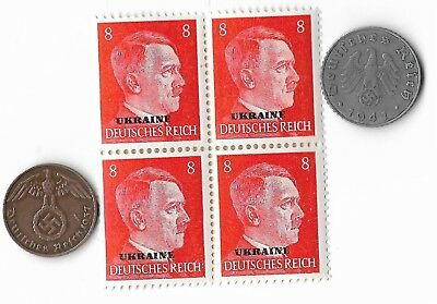Rare Old German WWII Period WW2 Germany Coin Stamp Great War Currency Collection