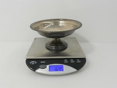 "Lunt Sterling 6"" footed Weighted Sterling Silver Compote 164.5g"
