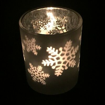 Bath and Body Works Christmas Dancing Snowflake Candle Holder Winter