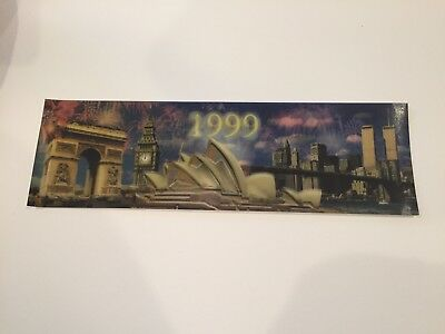 Lindt Lenticular Postcard New Years' 1999-2000 World Trade Center / Twin Towers
