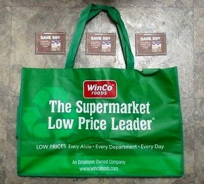 3 Coupons For 55 Cents Off Swanson Broth + Large Green Winco Supermarket Tote