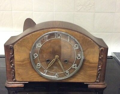 Antique Wooden Mantle Clock ++Working Order++