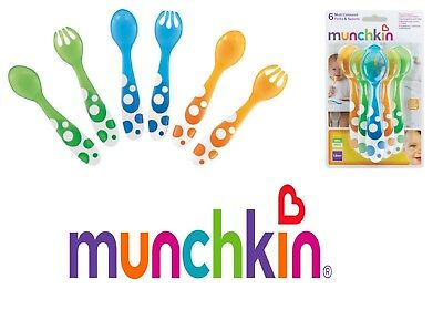 Munchkin Baby Feeding Multi Forks and Spoons Scoop Soft Tip Travel Trening 12m+