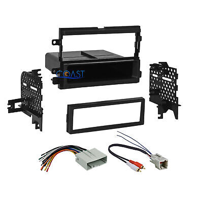 Car Radio Stereo Single Din Dash Kit Amp Harness for 04-up Ford Lincoln Mercury