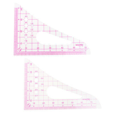 Triangle Plastic French Curve Metric Ruler for Sewing Dressmaking Accessory