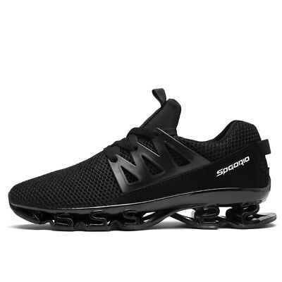 AU Mens Running Athletic Shoes Big Size Breathable Walking Black Casual Sneakers