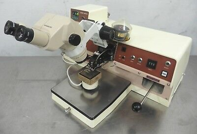C155455 West-Bond 7700B Gold Ball Wire Bonder w/ Heated Workholder & Controller