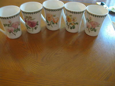 Set of 5 Portmeirion BOTANIC GARDEN Mugs Flowers