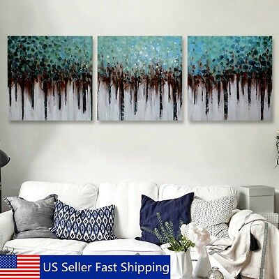 """Framed 3PCS Modern Hand-painted Canvas Print Oil Painting Abstract Home Decor20"""""""