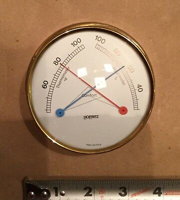 Vintage Hoffritz Thermometer Barometer Made In West Germany