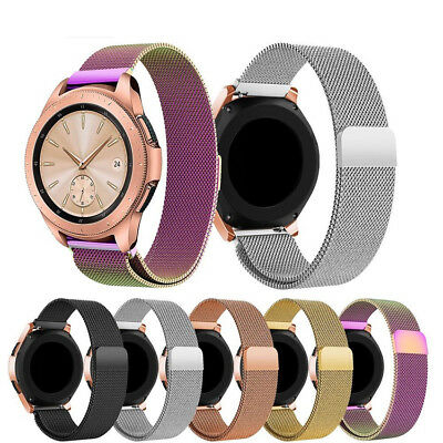 For Samsung Galaxy Watch 42mm/46mm Metal Magnetic Mesh Milanese Watch Band Strap