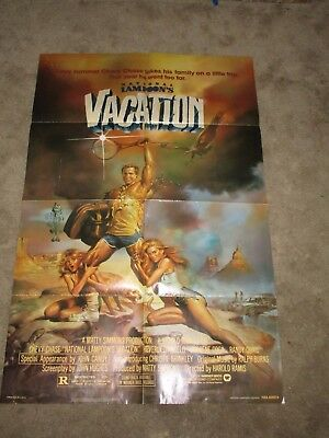 1983 National Lampoon Vacation 1 Sheet Movie Poster Christie Brinkley