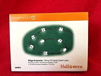 String 8 Spooky Eyeball Lights Dept 56 Snow Village Halloween Accessories 800035