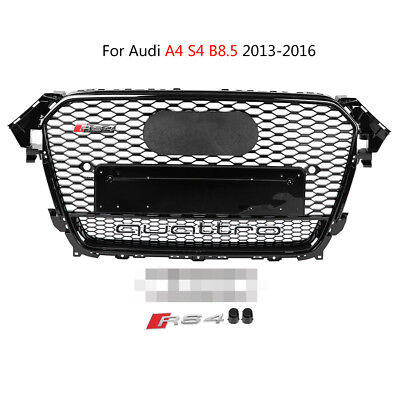 For RS4 Quattro Style Mesh Grille Front Grill For Audi A4 S4 B8.5 2013-2016