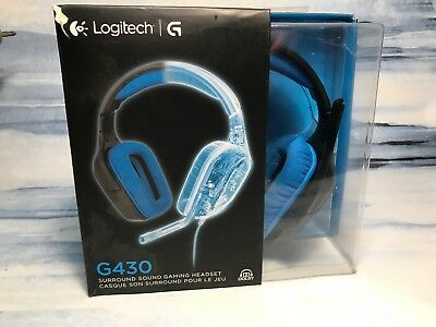 e3b131e6773 LOGITECH G430 SURROUND Sound Gaming USB Wired Headset Box Included ...