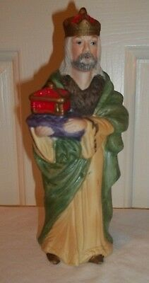 Vintage Homco 5216 Nativity Scene Wise Man King Figurine Christmas Replacement