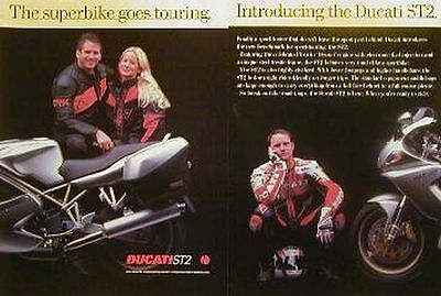 DUCATI ST2 Two Page Original Motorcycle Ad 1997