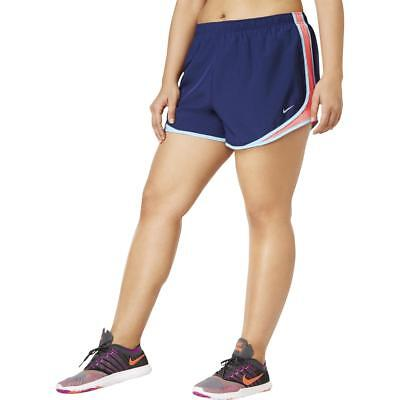 Nike Womens Tempo Blue Running Fitness Workout Shorts Athletic Plus 2X BHFO 8750
