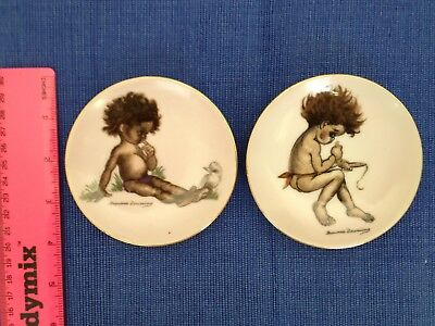 Brownie Downing Gorgeous Picaninny Plates 4 inches / 10 cm plates.