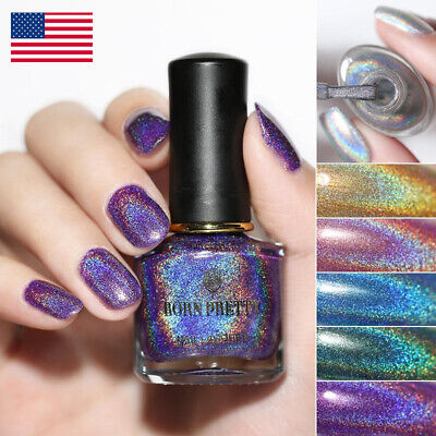 BORN PRETTY 6ml Flourish Holographic Laser Glitter Varnish  Nail Polish