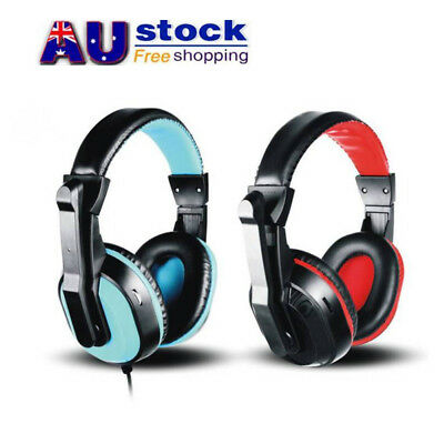 AU 3.5mm Wired Ear Headphones Headband Earphones for Computer PC Laptop Tablet
