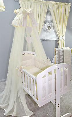 LOVELY NURSERY CANOPY DRAPE for BABY CRIB /BASKET COT / COTBED / COT BED