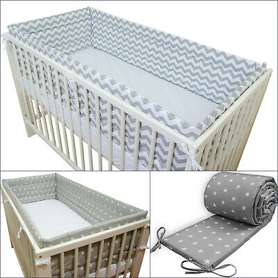 BABY Nursery ALL ROUND COT BUMPER to fit Baby COT or COT BED - 420 or 360 cm