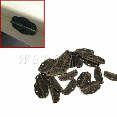 20PCS Vintage Wooden Furniture Decorative Hinges for Cabinet Drawer Jewelry Box