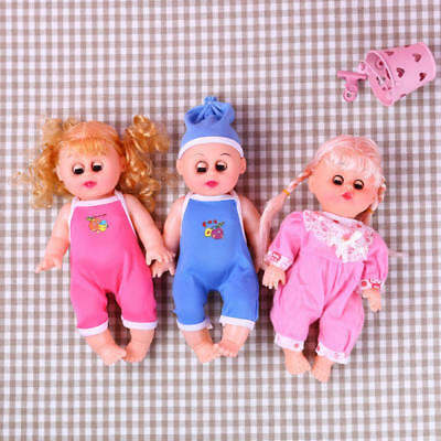Cute Newborn Baby Doll Toy Soft Vinyl Silicone Lifelike Baby Simulation Doll