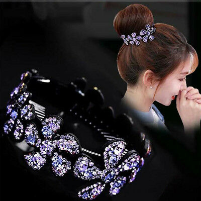 Bling Bling Flowers Rhinestone Hair Clip Headwear Hairpin Barrette Accessories