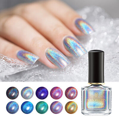 BORN PRETTY 6ml Deluxe Nail Polish Laser Glitter Nail Art Holographic Varnish