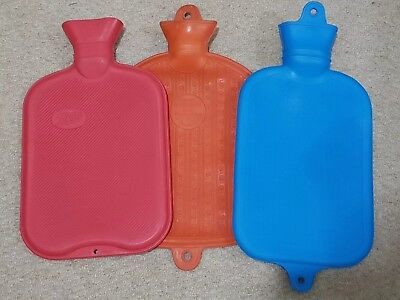 Vintage rubber hot water bottles