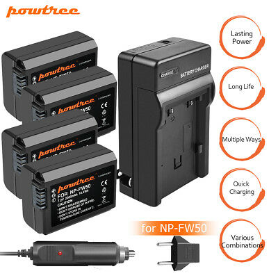 Powtree Battery or Charger For Sony Alpha A7R A5000 A6000 A6300 NEX-F3 NEX-3 TP