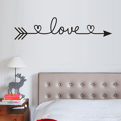 Love Arrow Quote Art Wall Stickers Family Bedroom Living Room Decals Home Decor