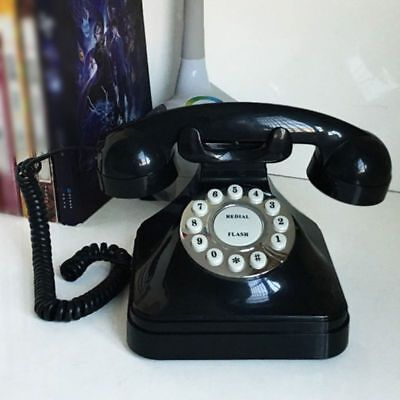 Vintage Retro Antique Phone Wired Corded Landline Telephone Home Desk Decor New