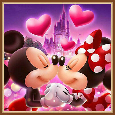 AU Love Mickey&Minnie Full Drill 5D Diamond Painting Embroidery Cross Stitch HN
