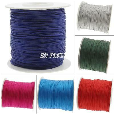 120m/Spool Nylon Cord Thread Chinese Knot Macrame Beading DIY Jewelry 0.5mm New