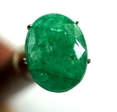 GGL Certified 6.45 Ct Natural Oval Cut Green Emerald Gemstone Hurry Now