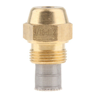 Brass Oil Burner Spray Nozzle with Filter Net for Oil Fired Furnaces, 1.2mm