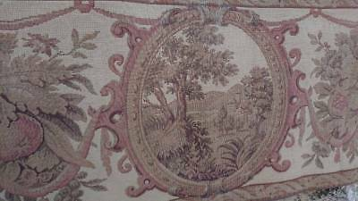 SUPERB ANTIQUE FRENCH CHATEAU TAPESTRY PELMET PORTIERE PANEL c1850