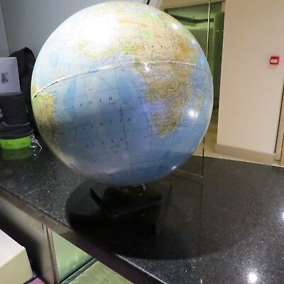 "Vintage philips 13 1/2 "" World Globe On Bakelite Stand"