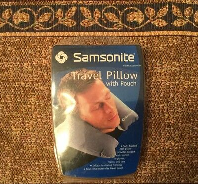 Samsonite Travel Pillow With Pouch - SM6210CG ~ GRAY